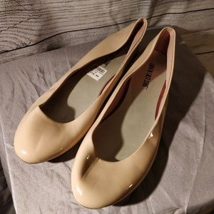 Tan Patent Leather Flats 10
